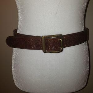 Eddie Bauer Tooled Leather Belt